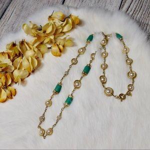 J.Crew | Pearl & Rhinestone Embellished Necklace